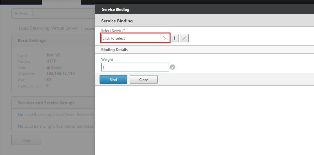 Şekil 8 - Virtual Servera Service Bind Etme 2